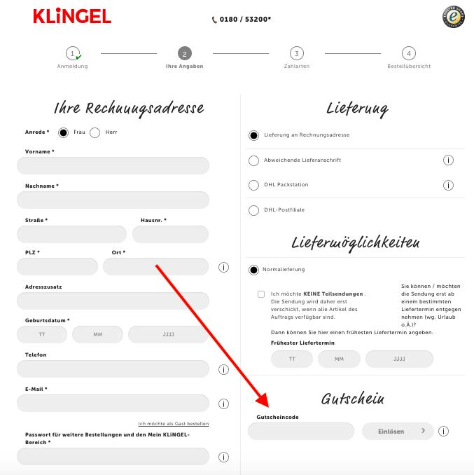 klingel promocode